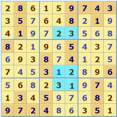 Multiple Solution Sudoku Solution 1