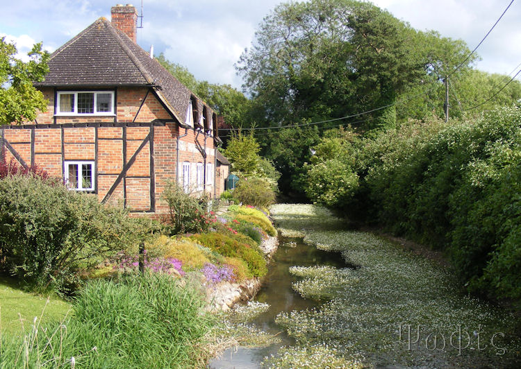 East Garston,River Lambourn,Thatched cottage