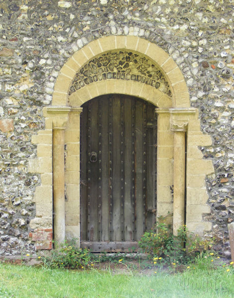 Frilsham Church,North door