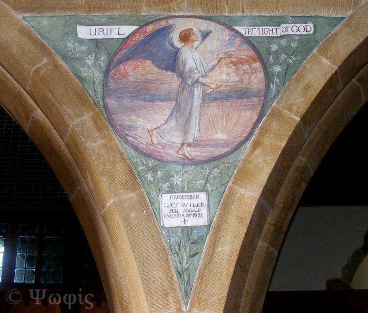 mural,inkpen church