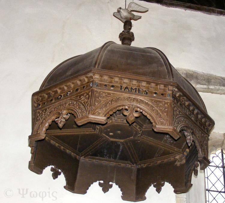 silchester,church,pulpit canopy