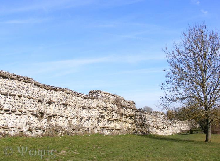 silchester,roman wall
