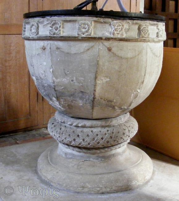 hampden church,font