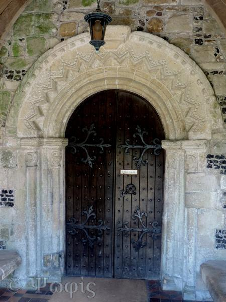 Avebury church,norman doorway
