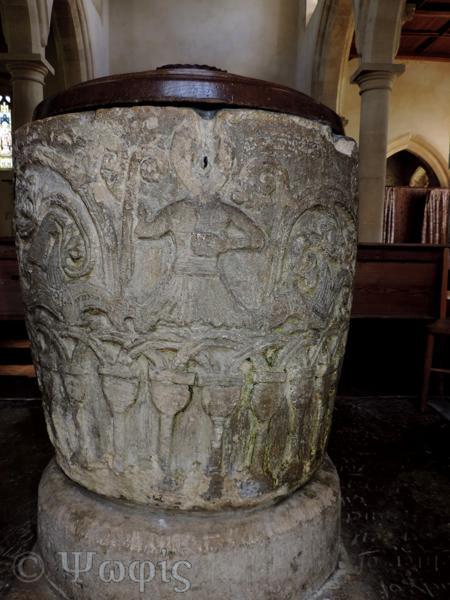 Avebury church,font