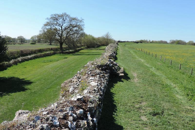 Silchester,Roman wall