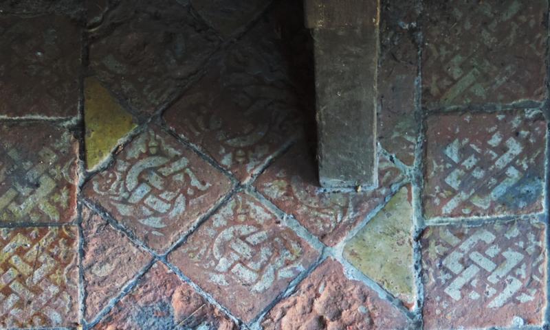 harpsden church,medieval tiles