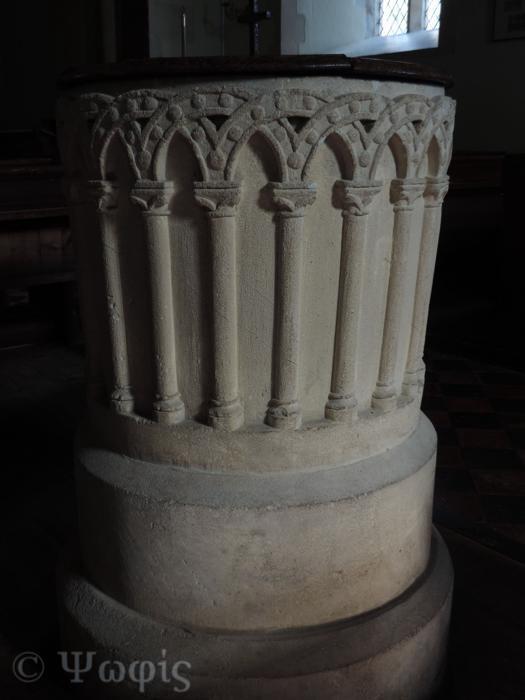 Fyfield church,font