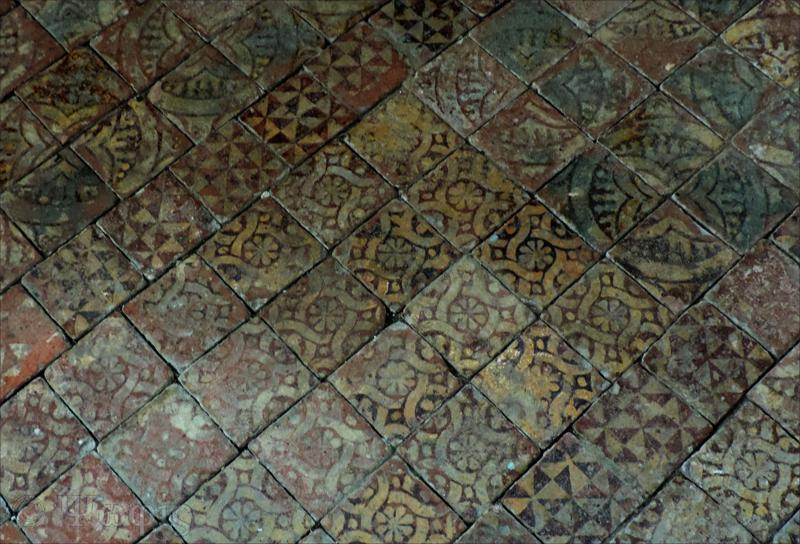 Nuffield church,floor tiles,medieval tiles
