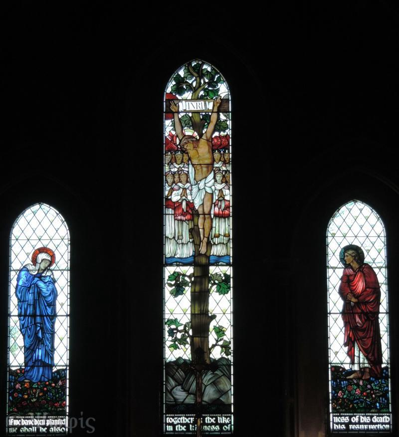 West Woodhay church,stained glass,burne jones