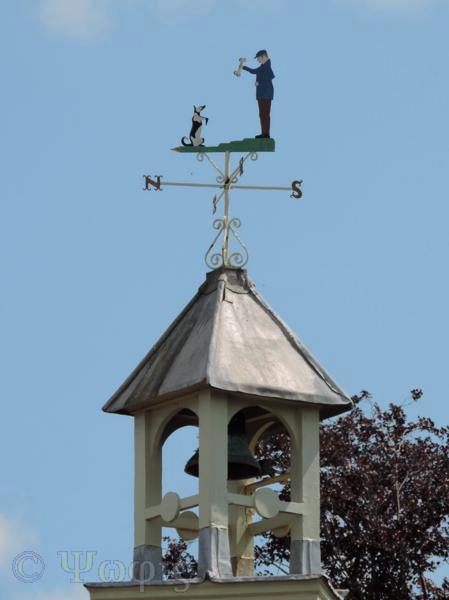 weather vane,weather cock,dog
