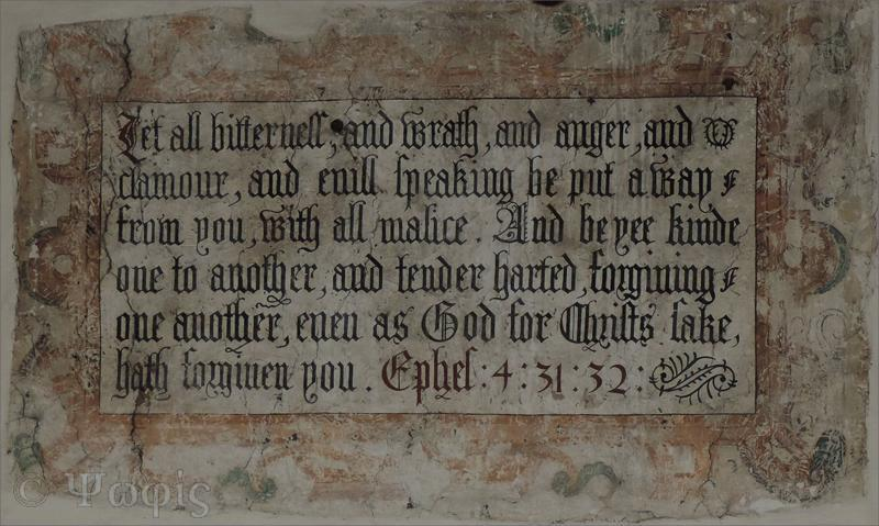 mural,St Mary Bourne church