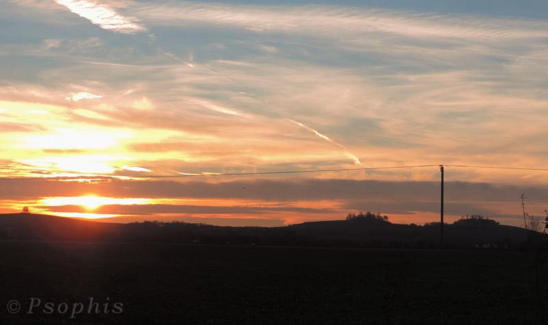 Wittenham clumps,sunset