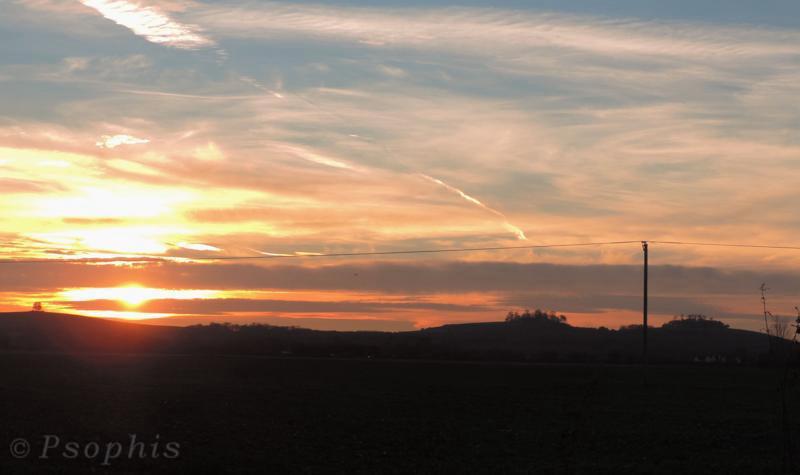 Wittenham clumps,sunset