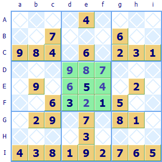 Sudoku stripe region