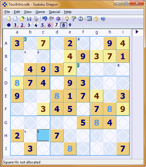Sudoku Dragon in action