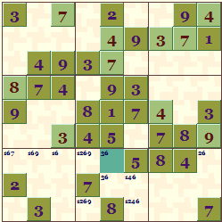 Sample Sudoku Theme  Green