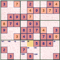 Sample Sudoku Theme Reds